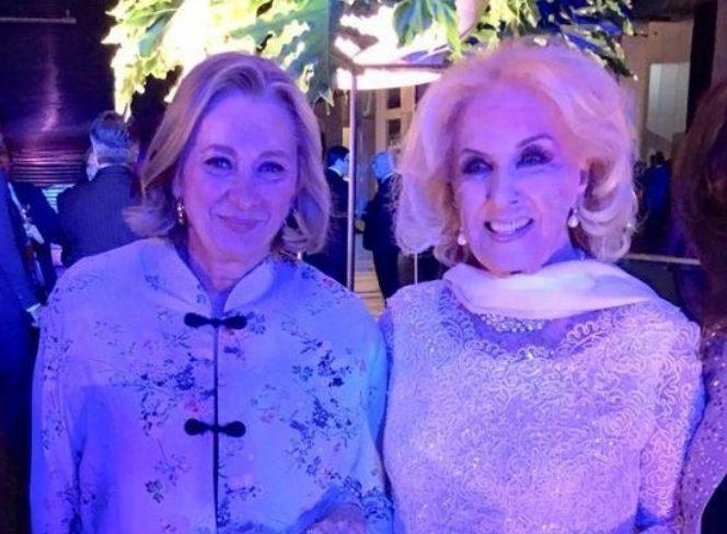 Escenario Mirtha Legrand fue la invitada de honor a la gala con los reyes de España