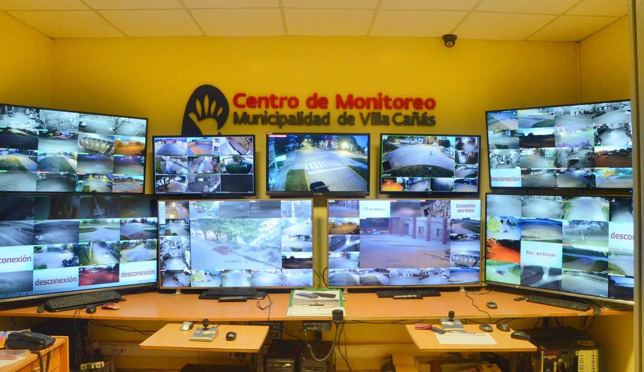 Villa Cañás: Con 96 videocámaras, el municipio le sigue dando prioridad a la seguridad de la ciudad.