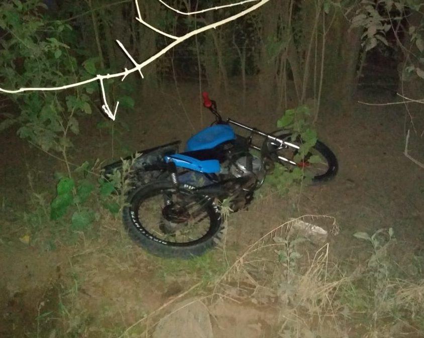 Villa Cañás: Hallaron una moto abandonada