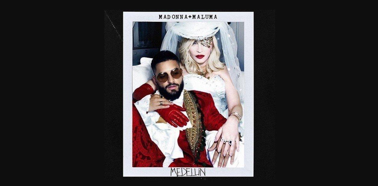 """Lanzamiento: Madonna y Maluma presentaron """"Medellín"""", su primer tema juntos"""